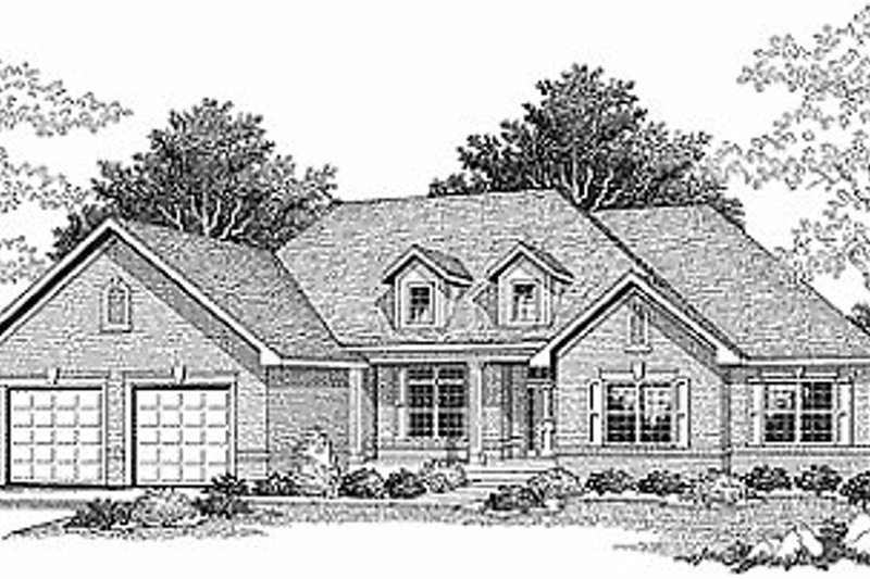 Traditional Exterior - Front Elevation Plan #70-328 - Houseplans.com