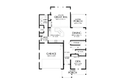 Contemporary Style House Plan - 3 Beds 2.5 Baths 2448 Sq/Ft Plan #48-987 Floor Plan - Main Floor Plan