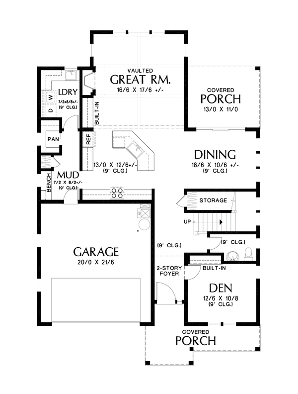 Dream House Plan - Contemporary Floor Plan - Main Floor Plan #48-987