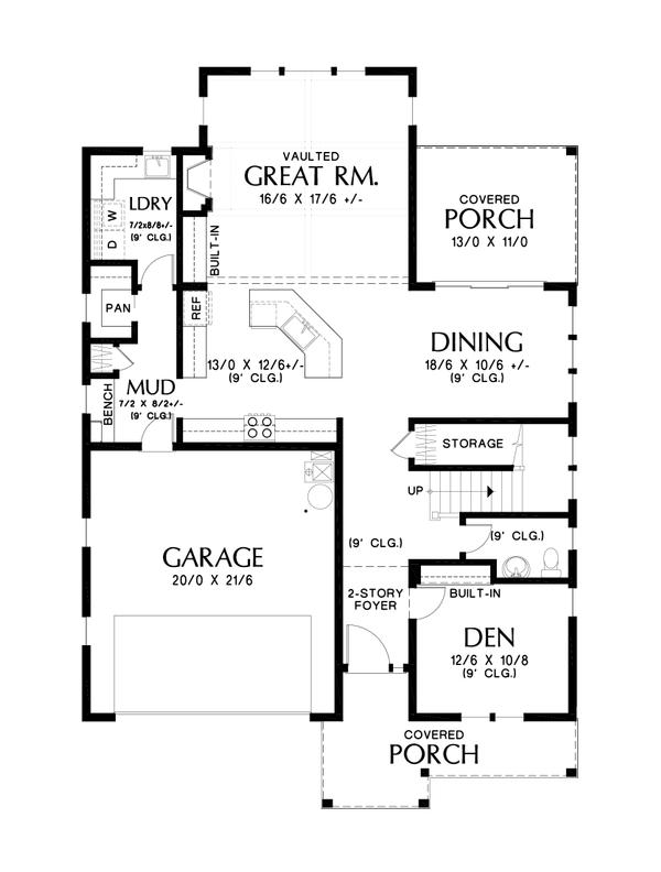 Dream House Plan - Contemporary Floor Plan - Main Floor Plan #48-987