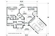 Cottage Style House Plan - 3 Beds 3 Baths 1898 Sq/Ft Plan #56-716 Floor Plan - Main Floor Plan