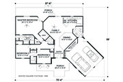 Cottage Style House Plan - 3 Beds 3 Baths 1898 Sq/Ft Plan #56-716 Floor Plan - Main Floor
