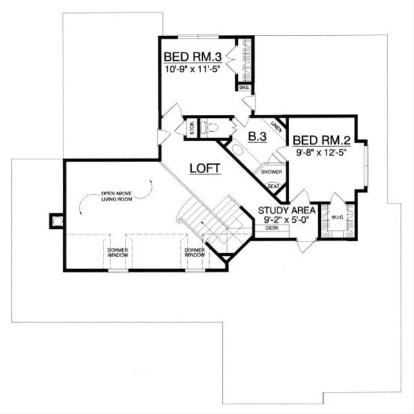 Country Floor Plan - Upper Floor Plan Plan #40-386
