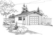 Mediterranean Style House Plan - 0 Beds 0 Baths 392 Sq/Ft Plan #124-632 Exterior - Front Elevation