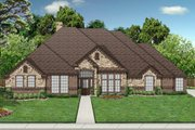 European Style House Plan - 4 Beds 3 Baths 2538 Sq/Ft Plan #84-555 Exterior - Front Elevation
