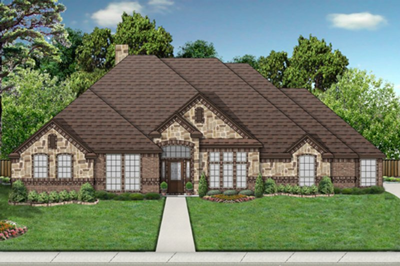 European Exterior - Front Elevation Plan #84-555 - Houseplans.com