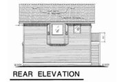 Traditional Style House Plan - 1 Beds 1 Baths 583 Sq/Ft Plan #18-4526 Exterior - Rear Elevation