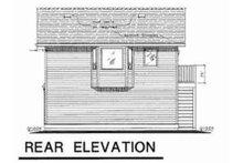 House Plan Design - Traditional Exterior - Rear Elevation Plan #18-4526