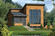 Contemporary Style House Plan - 1 Beds 1 Baths 756 Sq/Ft Plan #25-4524 Exterior - Front Elevation