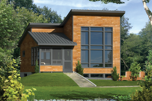 Contemporary Exterior - Front Elevation Plan #25-4524