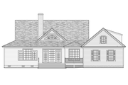 Farmhouse Style House Plan - 4 Beds 3 Baths 2556 Sq/Ft Plan #137-252 Exterior - Rear Elevation