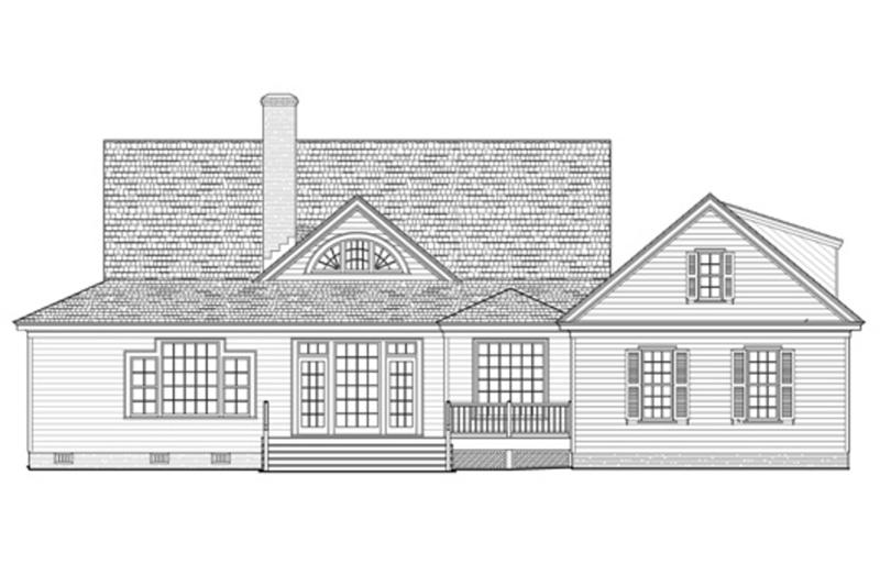 Farmhouse Exterior - Rear Elevation Plan #137-252 - Houseplans.com