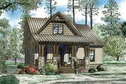 Cottage Style House Plan - 3 Beds 2 Baths 1379 Sq/Ft Plan #17-2451 Exterior - Front Elevation