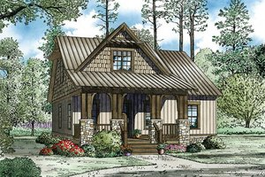 Cottage Exterior - Front Elevation Plan #17-2451
