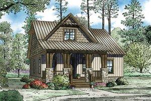 Cottage Exterior - Front Elevation Plan #17-2451