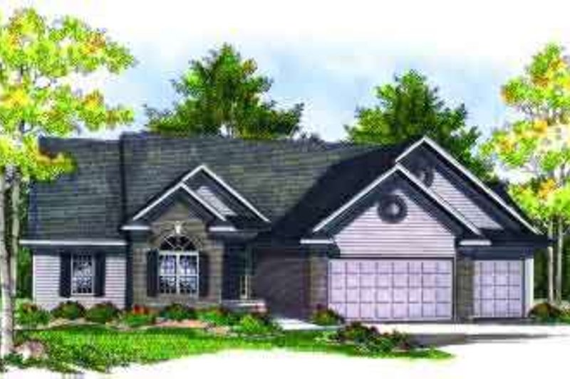 Traditional Exterior - Front Elevation Plan #70-703 - Houseplans.com