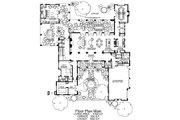 Mediterranean Style House Plan - 4 Beds 5 Baths 6860 Sq/Ft Plan #484-8 Floor Plan - Main Floor