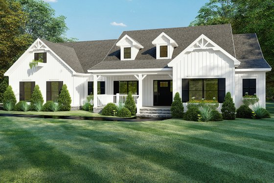 Farmhouse Exterior - Front Elevation Plan #923-157