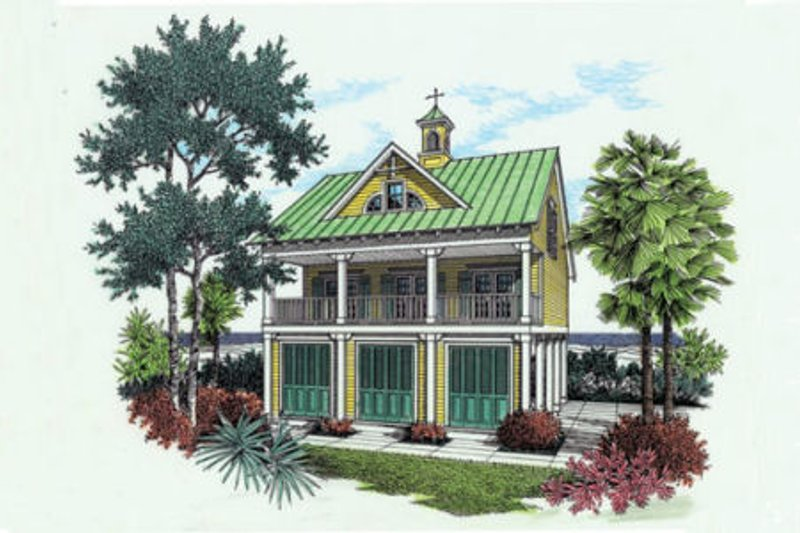 Home Plan - Beach Exterior - Front Elevation Plan #45-215