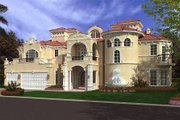 Mediterranean Style House Plan - 5 Beds 5.5 Baths 8441 Sq/Ft Plan #420-199 Exterior - Front Elevation
