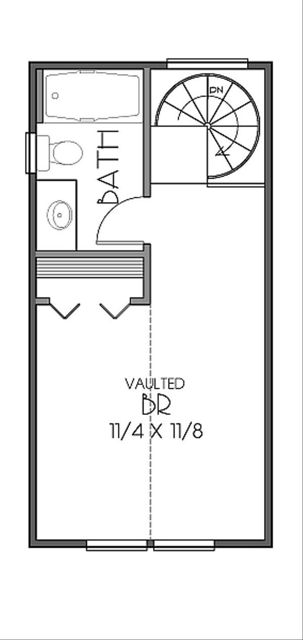 Craftsman Floor Plan - Upper Floor Plan Plan #423-48