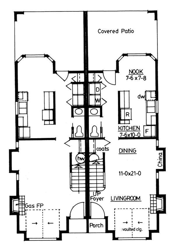 Dream House Plan - Colonial Floor Plan - Main Floor Plan #126-228