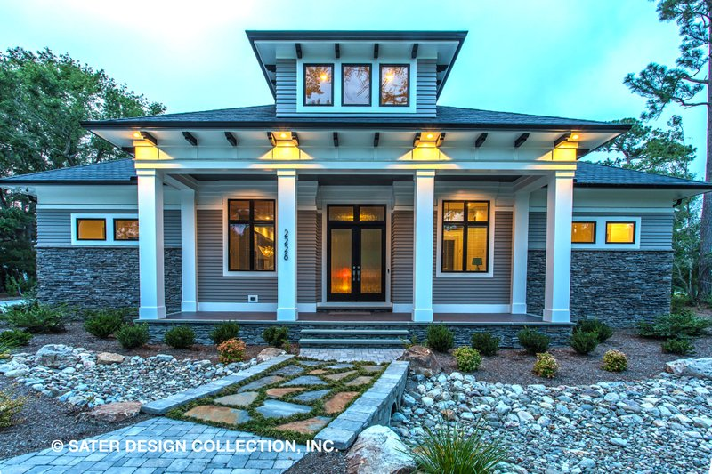 Craftsman Style House Plan - 3 Beds 3.5 Baths 3108 Sq/Ft Plan #930-522 Exterior - Front Elevation
