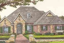 Dream House Plan - European Exterior - Front Elevation Plan #310-247