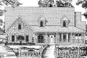 Traditional Exterior - Front Elevation Plan #62-135