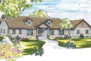Ranch Style House Plan - 3 Beds 2.5 Baths 2778 Sq/Ft Plan #124-543 Exterior - Front Elevation