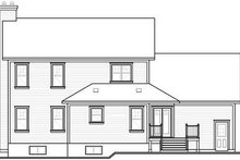 Dream House Plan - Traditional Exterior - Rear Elevation Plan #23-845