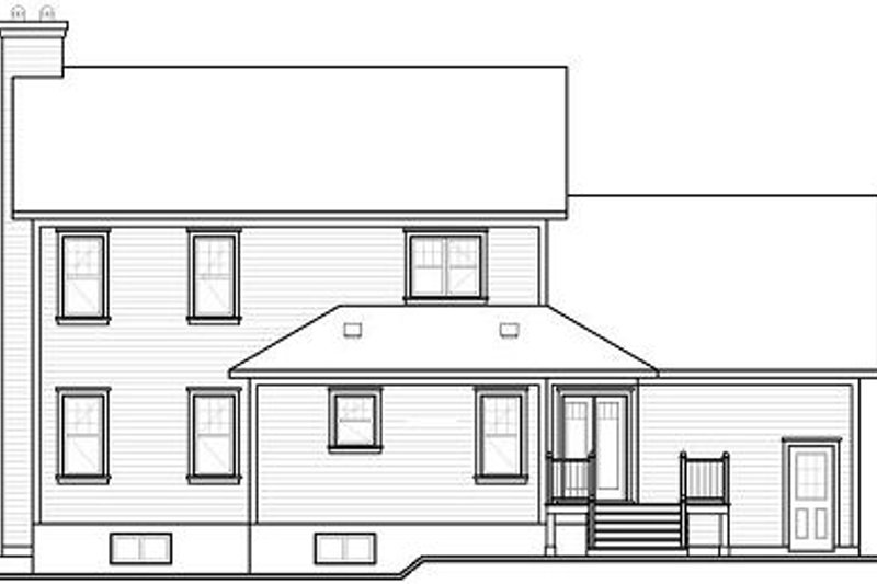 Traditional Exterior - Rear Elevation Plan #23-845 - Houseplans.com