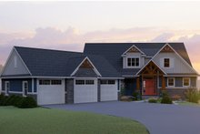 Architectural House Design - Craftsman Exterior - Front Elevation Plan #1064-17