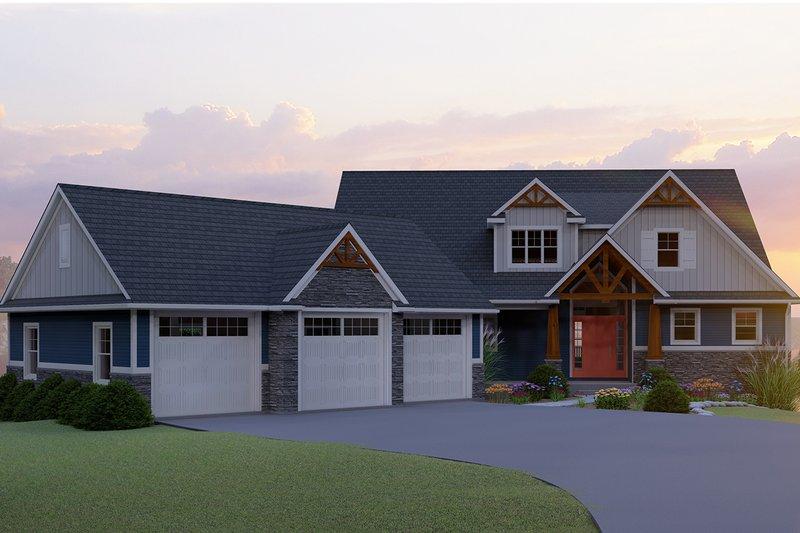 House Plan Design - Craftsman Exterior - Front Elevation Plan #1064-17