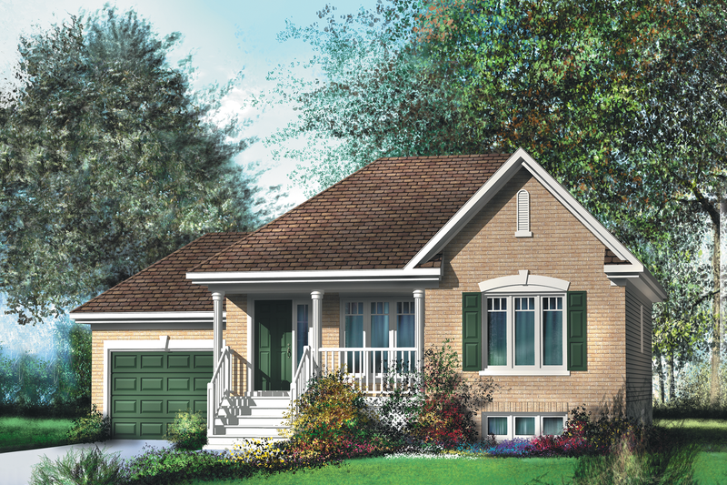 Traditional Style House Plan - 2 Beds 1 Baths 926 Sq/Ft Plan #25-4121 Exterior - Front Elevation
