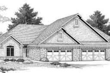 Dream House Plan - Traditional Exterior - Front Elevation Plan #70-750