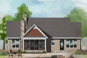 Craftsman Style House Plan - 3 Beds 2 Baths 1622 Sq/Ft Plan #929-1027 Exterior - Rear Elevation