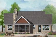 Craftsman Exterior - Rear Elevation Plan #929-1027
