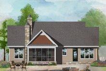 Craftsman Exterior - Rear Elevation Plan #929-1027