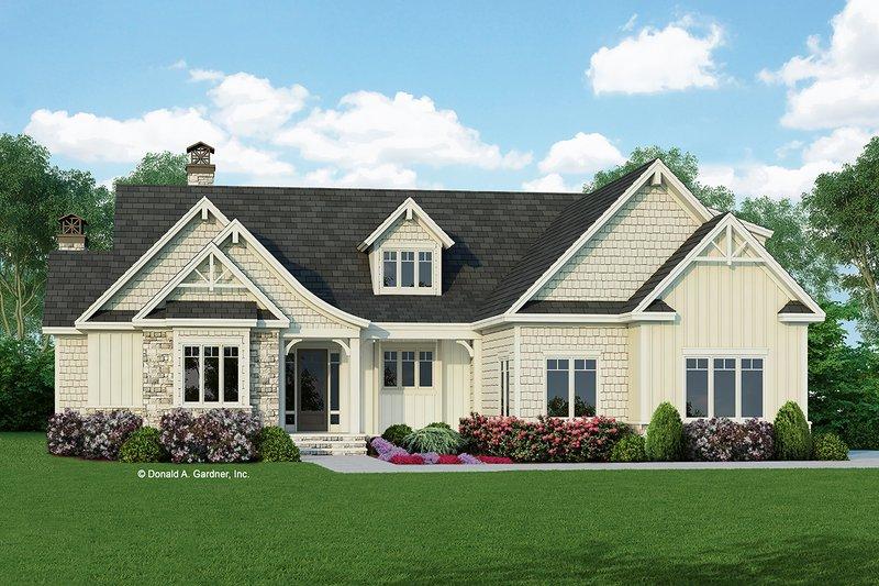 Dream House Plan - Craftsman Exterior - Front Elevation Plan #929-998