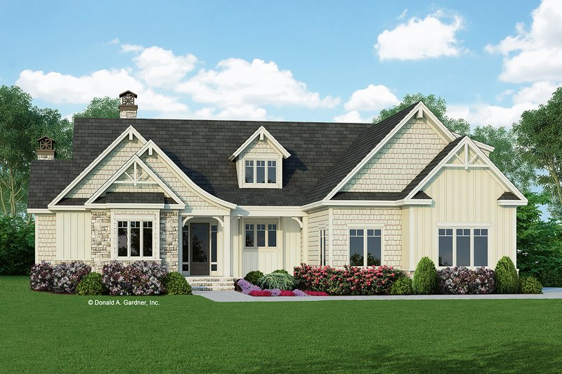 Dream House Plan - Craftsman Exterior - Front Elevation Plan #929-998