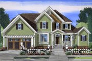 Country Style House Plan - 4 Beds 2.5 Baths 2601 Sq/Ft Plan #46-793 Exterior - Front Elevation