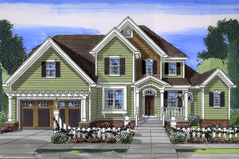 Architectural House Design - Country Exterior - Front Elevation Plan #46-793