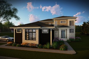 Contemporary Exterior - Front Elevation Plan #70-1496