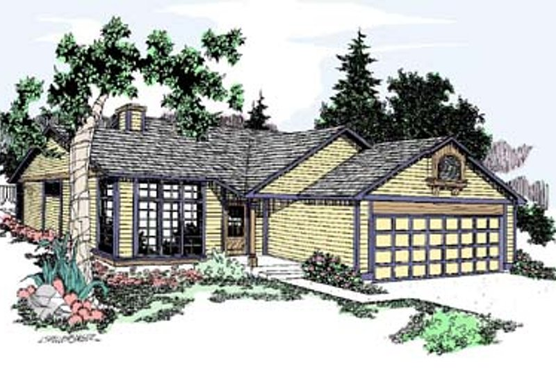 Traditional Exterior - Front Elevation Plan #60-528 - Houseplans.com