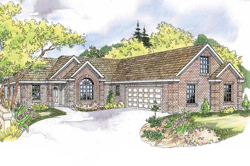 Ranch Exterior - Front Elevation Plan #124-580 - Houseplans.com