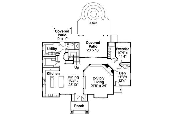 Craftsman Floor Plan - Main Floor Plan Plan #124-1000