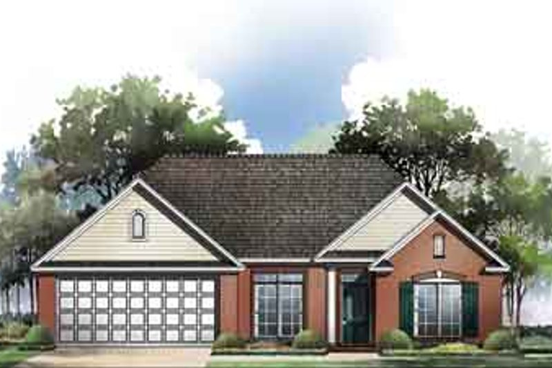 Traditional Exterior - Front Elevation Plan #21-162 - Houseplans.com