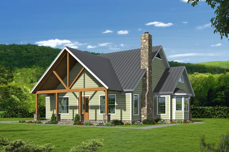 House Plan Design - Country Exterior - Front Elevation Plan #932-144