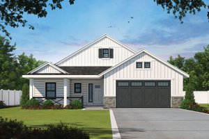 House Blueprint - Farmhouse Exterior - Front Elevation Plan #20-2393